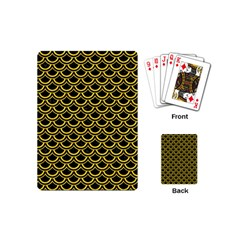 Scales2 Black Marble & Yellow Colored Pencil (r) Playing Cards (mini)