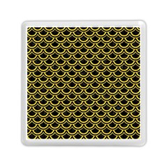 Scales2 Black Marble & Yellow Colored Pencil (r) Memory Card Reader (square)