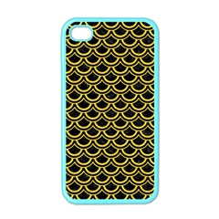 Scales2 Black Marble & Yellow Colored Pencil (r) Apple Iphone 4 Case (color)