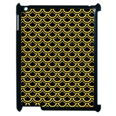 Scales2 Black Marble & Yellow Colored Pencil (r) Apple Ipad 2 Case (black)