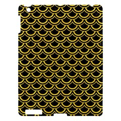Scales2 Black Marble & Yellow Colored Pencil (r) Apple Ipad 3/4 Hardshell Case