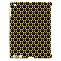 Scales2 Black Marble & Yellow Colored Pencil (r) Apple Ipad 3/4 Hardshell Case (compatible With Smart Cover)