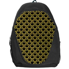 Scales2 Black Marble & Yellow Colored Pencil (r) Backpack Bag