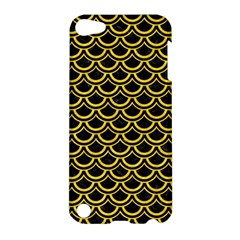 Scales2 Black Marble & Yellow Colored Pencil (r) Apple Ipod Touch 5 Hardshell Case