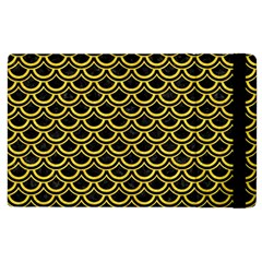 Scales2 Black Marble & Yellow Colored Pencil (r) Apple Ipad 3/4 Flip Case
