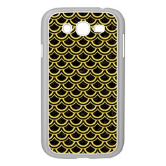 Scales2 Black Marble & Yellow Colored Pencil (r) Samsung Galaxy Grand Duos I9082 Case (white)