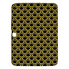 Scales2 Black Marble & Yellow Colored Pencil (r) Samsung Galaxy Tab 3 (10 1 ) P5200 Hardshell Case
