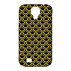 Scales2 Black Marble & Yellow Colored Pencil (r) Samsung Galaxy S4 Classic Hardshell Case (pc+silicone)