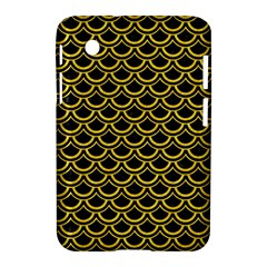 Scales2 Black Marble & Yellow Colored Pencil (r) Samsung Galaxy Tab 2 (7 ) P3100 Hardshell Case