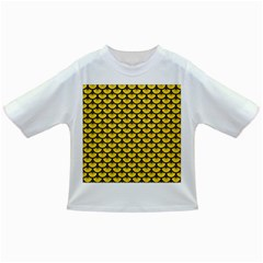 Scales3 Black Marble & Yellow Colored Pencil Infant/toddler T Shirts