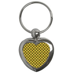 Scales3 Black Marble & Yellow Colored Pencil Key Chains (heart)