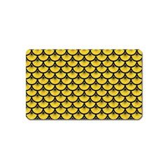 Scales3 Black Marble & Yellow Colored Pencil Magnet (name Card)