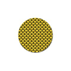 Scales3 Black Marble & Yellow Colored Pencil Golf Ball Marker (4 Pack)
