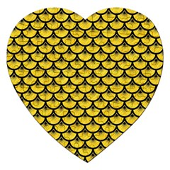 Scales3 Black Marble & Yellow Colored Pencil Jigsaw Puzzle (heart)