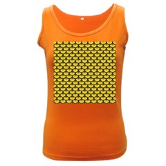 Scales3 Black Marble & Yellow Colored Pencil Women s Dark Tank Top
