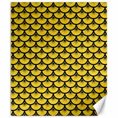 Scales3 Black Marble & Yellow Colored Pencil Canvas 20  X 24