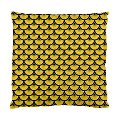 Scales3 Black Marble & Yellow Colored Pencil Standard Cushion Case (two Sides)