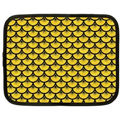 Scales3 Black Marble & Yellow Colored Pencil Netbook Case (xl)