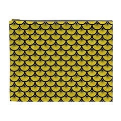 Scales3 Black Marble & Yellow Colored Pencil Cosmetic Bag (xl)