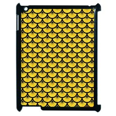 Scales3 Black Marble & Yellow Colored Pencil Apple Ipad 2 Case (black)
