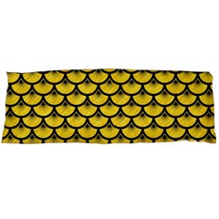 Scales3 Black Marble & Yellow Colored Pencil Body Pillow Case (dakimakura)