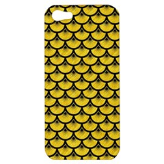 Scales3 Black Marble & Yellow Colored Pencil Apple Iphone 5 Hardshell Case