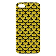Scales3 Black Marble & Yellow Colored Pencil Apple Iphone 5 Premium Hardshell Case