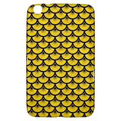Scales3 Black Marble & Yellow Colored Pencil Samsung Galaxy Tab 3 (8 ) T3100 Hardshell Case