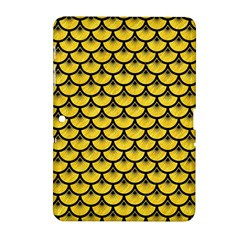 Scales3 Black Marble & Yellow Colored Pencil Samsung Galaxy Tab 2 (10 1 ) P5100 Hardshell Case