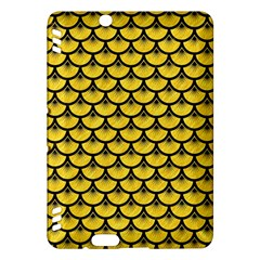 Scales3 Black Marble & Yellow Colored Pencil Kindle Fire Hdx Hardshell Case