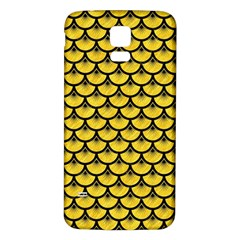 Scales3 Black Marble & Yellow Colored Pencil Samsung Galaxy S5 Back Case (white)