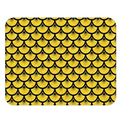 Scales3 Black Marble & Yellow Colored Pencil Double Sided Flano Blanket (large)