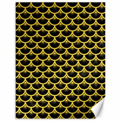 Scales3 Black Marble & Yellow Colored Pencil (r) Canvas 12  X 16