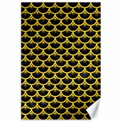Scales3 Black Marble & Yellow Colored Pencil (r) Canvas 20  X 30