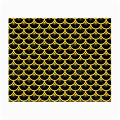 Scales3 Black Marble & Yellow Colored Pencil (r) Small Glasses Cloth (2 Side)