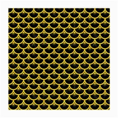 Scales3 Black Marble & Yellow Colored Pencil (r) Medium Glasses Cloth (2 Side)