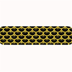 Scales3 Black Marble & Yellow Colored Pencil (r) Large Bar Mats