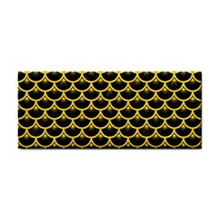 Scales3 Black Marble & Yellow Colored Pencil (r) Cosmetic Storage Cases
