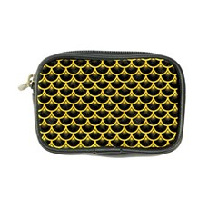 Scales3 Black Marble & Yellow Colored Pencil (r) Coin Purse