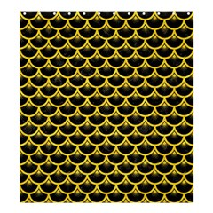 Scales3 Black Marble & Yellow Colored Pencil (r) Shower Curtain 66  X 72  (large)