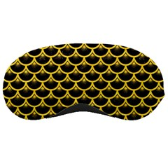 Scales3 Black Marble & Yellow Colored Pencil (r) Sleeping Masks