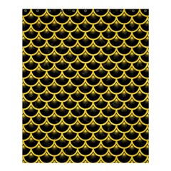 Scales3 Black Marble & Yellow Colored Pencil (r) Shower Curtain 60  X 72  (medium)