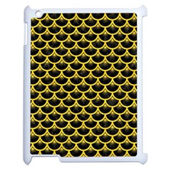 Scales3 Black Marble & Yellow Colored Pencil (r) Apple Ipad 2 Case (white)