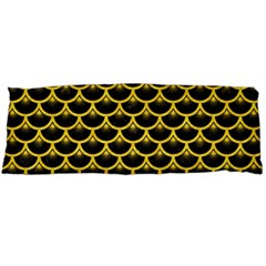 Scales3 Black Marble & Yellow Colored Pencil (r) Body Pillow Case Dakimakura (two Sides)