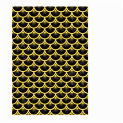 Scales3 Black Marble & Yellow Colored Pencil (r) Large Garden Flag (two Sides)
