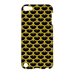 Scales3 Black Marble & Yellow Colored Pencil (r) Apple Ipod Touch 5 Hardshell Case