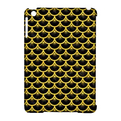 Scales3 Black Marble & Yellow Colored Pencil (r) Apple Ipad Mini Hardshell Case (compatible With Smart Cover)
