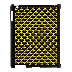 Scales3 Black Marble & Yellow Colored Pencil (r) Apple Ipad 3/4 Case (black)