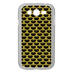Scales3 Black Marble & Yellow Colored Pencil (r) Samsung Galaxy Grand Duos I9082 Case (white)