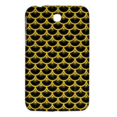 Scales3 Black Marble & Yellow Colored Pencil (r) Samsung Galaxy Tab 3 (7 ) P3200 Hardshell Case